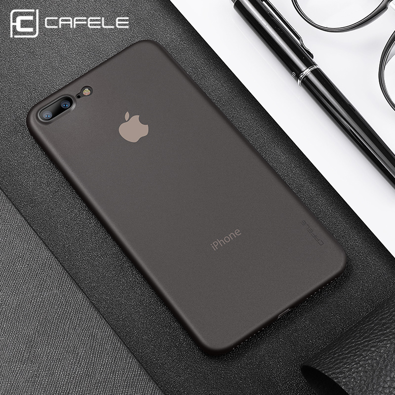 Cafele Ultra ince 0.4mm PP Vaka iPhone için 8/8 Artı Lüks Telefon Kapak iphone 8 Anti parmak izi Anti Scratch