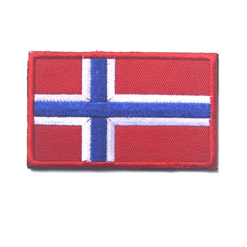3D embroidery armband Norway flag patch Military Tactical Clothing Backpack Caps Vietnam flag patch badge