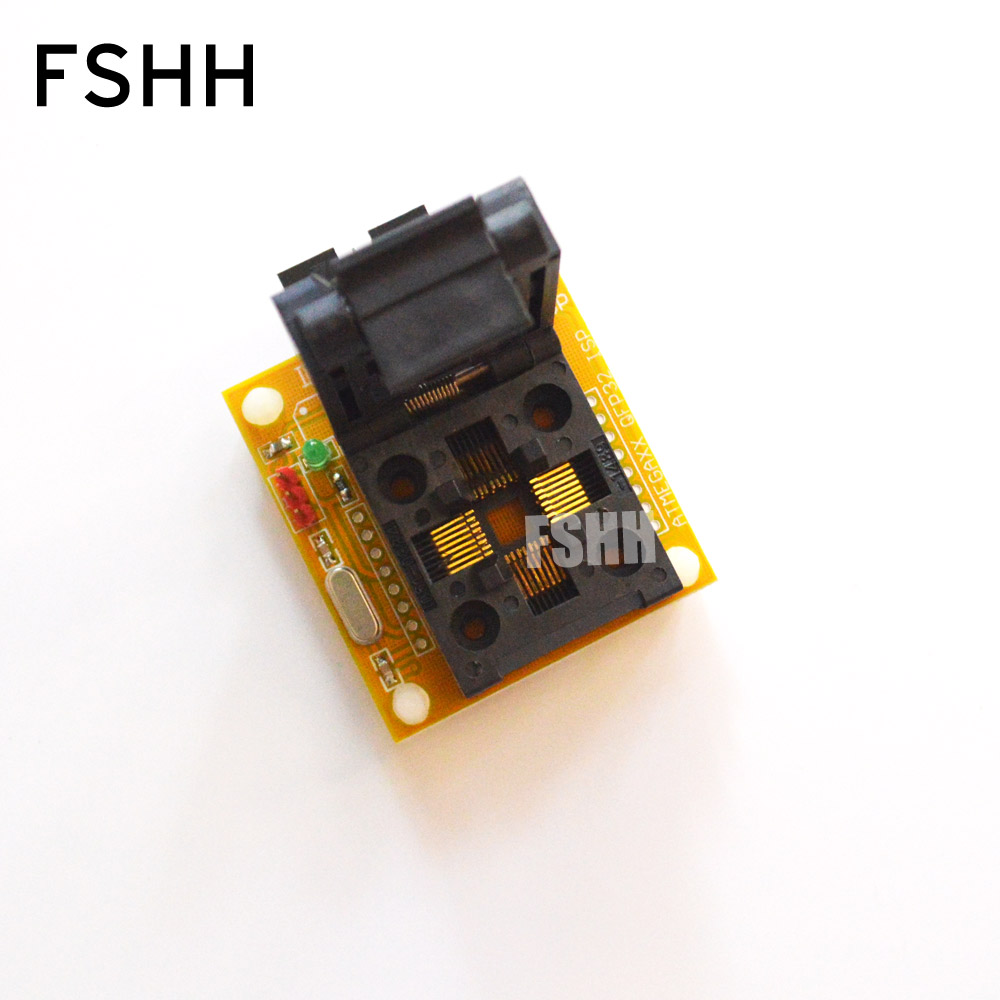 IC TEST TQFP32 QFP32 test socket for AVR ISP test mega8 mega48 mega88 adapter
