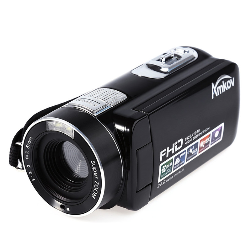 Amkov Full HD MINI DV Kamera AMK-DV161 24MP HD Dijital kamera DV Video Kamera HD 1080 P 30FPS 24MP 18X Dijital yakınlaştırma