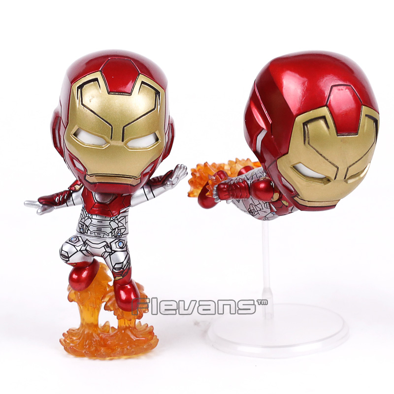 Marvel Iron Man Bobble Kafa Oyuncak Araba Dekorasyon Doll PVC Action Figure Perakende Kutusu ile 2 Stilleri