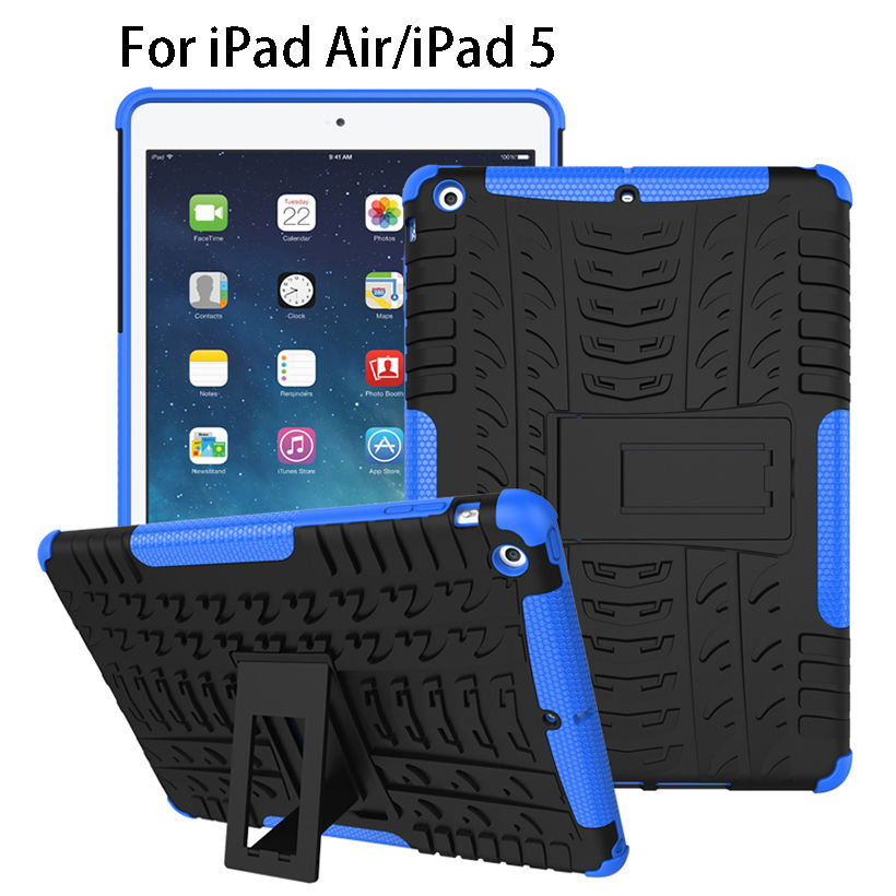 Case apple ipad air ipad 5 pad kapak funda tablet için tpu ve pc zırh apple ipad5 için dazzle hibrid kickstand kılıfı çanta kılıfları